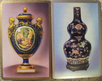 Vintage Playing Cards,  Pinochle Decks, Sèvres and Ming Vase Designs, 2 Decks
