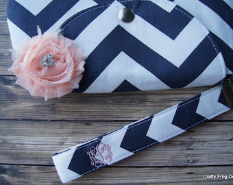 Clutch - Bridesmaid Clutches - Pouch - Formal - Wedding - Boutique - chevron clutch