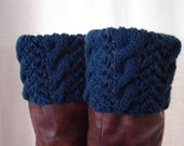 Boot Toppers-Cape Cod Blue Cables & Lace