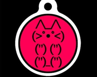 Pet ID Tag - Emoticat Pet Tag, Dog Tag, Cat Tag, Luggage Tag, Child ID Tag