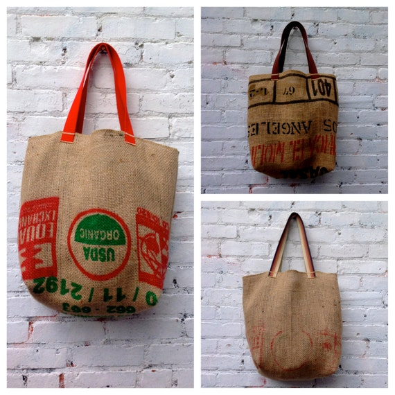 ApRi's coffee-bean-sack totes