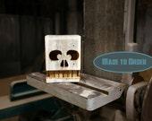 Reclaimed Wood Box - Skull Numero Uno