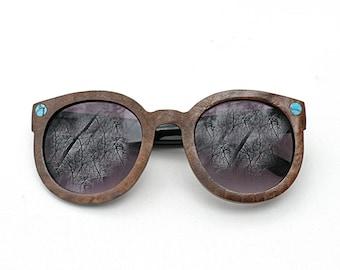 Women's Wood Veneer Sunglasses - Tiny Miner by Tumbleweeds Handcraft
