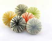 Tacks / Pushpin / Comma Zen Chic  / Magnet /  Fabric Covered Button / Thumbtacks /  Spiral / Doodle / Primary Color / Star  / 80