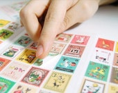 80 kinds Korea DIY Picture Stickers Paper Stamps Small Stickers - Francoise