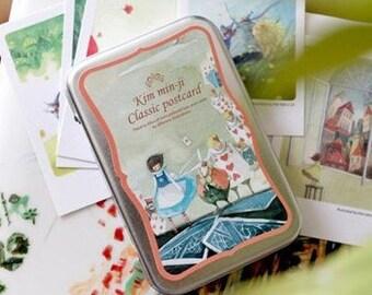 Korea DIY decoden Iron Boxed Cards Missma Card Set -Alice