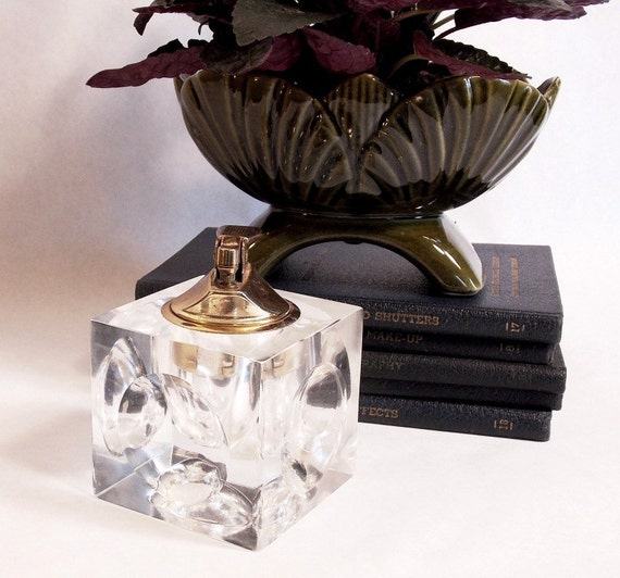 Vintage Flamex Table Lighter Cube Lighter Coffee Table