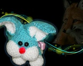 Crocheted Soft Toy/Bag Bag Bunny  perfect for  Little Egg hunters and everyday use :D