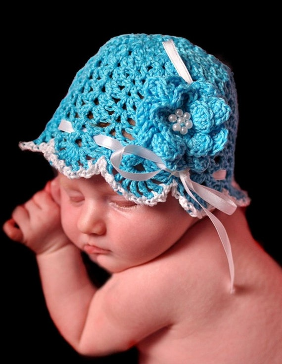 Crochet Pattern, Vitorian Lace Hat PDF Pattern No 28 for Baby and Doll Permisson to sell Finished Items