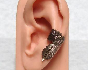 Filigree Leaf Forest Ear Cuff ' left ear '