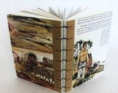 Lumberjack Journal - Recycled Books - Western - Handbound Sketchbook - American West Notebook - Handmade in America