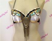 Goddess Cleopatra -  her highness royalty sparkly bra
