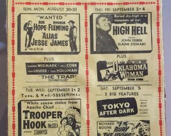 1959 Ulmerton Drive-In Theater Ad Panel