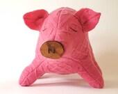 Big Pig:  Aran Cabled Earth Friendly Farm Animal - broodbaby
