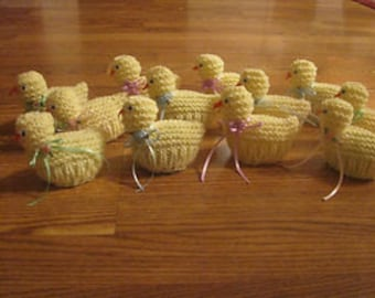 Easter Chicks with Plastic Eggs to Fill