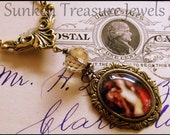 The Fisherman & the Mermaid Romantic Glass Cameo Necklace