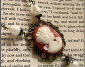Queen Victoria-Era Cameo Necklace Accented With Teardrop Pearls
