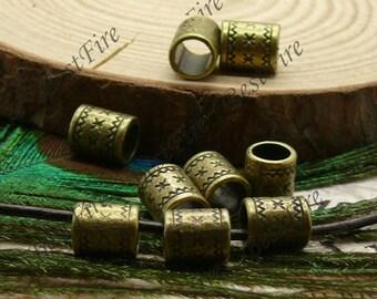 20pcs of Antique brass column partition findings ,Charms Bracelet Connectors Pendant 6x8mm