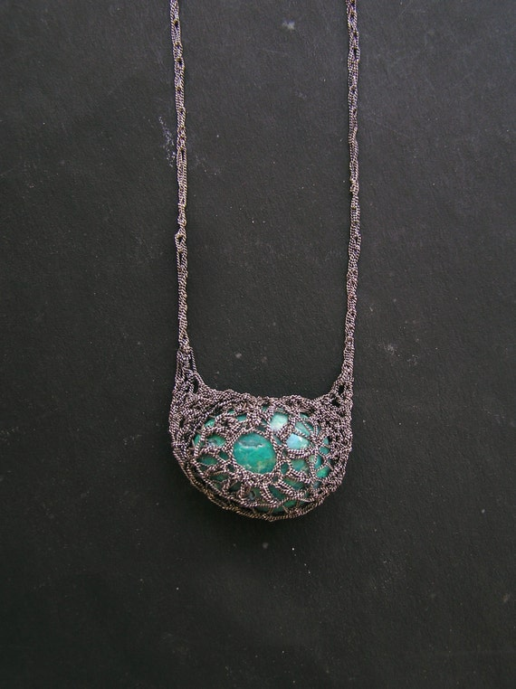 reserved - bohemian mama chrysocolla necklace