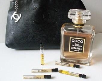Set of 5 Chanel Trial Eau de Toilette  Bottles   LJO Collection Vintage