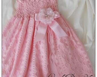 Pink flower girl dress, Girls pink dress, Girls light pink dress, Light pink dress for girls,  Pink party dress, Baby girls pink dress