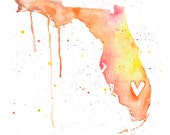 5x7 or 8.5x11 - Florida Love