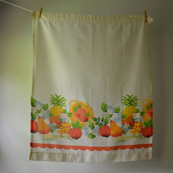 Vintage Curtain Panels 1970 S Kitchen Curtains By Eadovintage