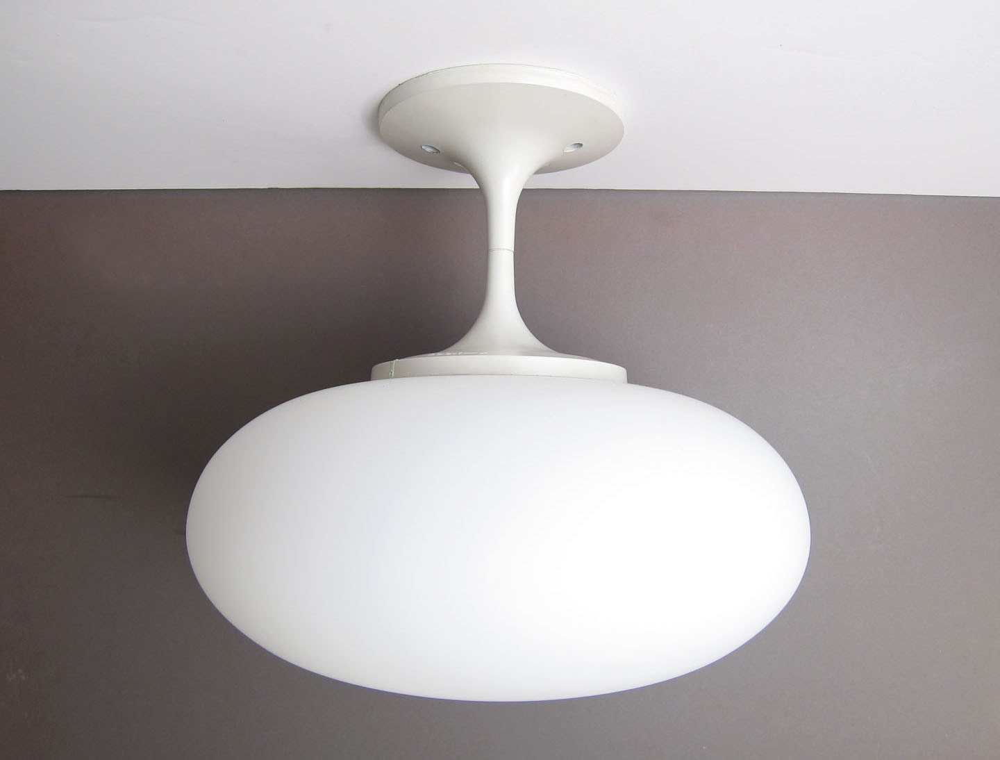 Reserved lightcraft mushroom ceiling light lamp mid century for Mid century ceiling lamp