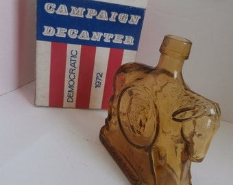 MIB 1972 Democratic Presidential Decanter McGovern and Shriver