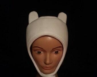 Inspired by Adventure Time: Finn Hat Handmade Fleece Costume Cosplay Hat