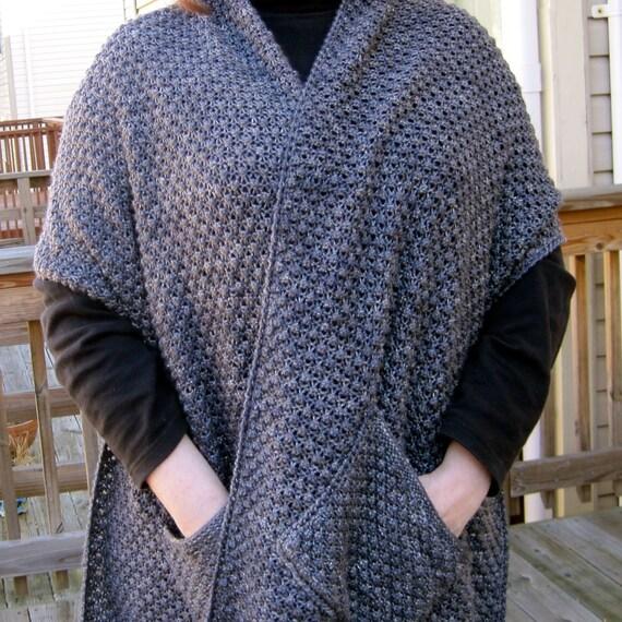 Knit Wrap Pattern Warm Bramble Lace Pocket Shawl Pattern