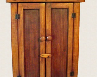 Handcrafted Rustic Wood 2 Door  Wall Cabinet Ready to Ship