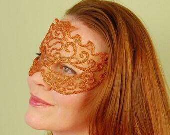 Sheer mask fire opal halloween fairy mardi gras for Mardi gras mask tattoo