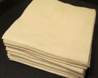 """50 - 10"""" Warm and Natural Or Warm and White Batting Squares"""
