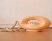 Vintage Genie Telephone, Peachy Orange