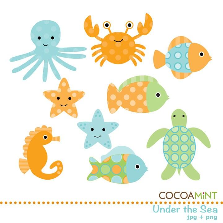 Underwater Sea Creatures Clip Art Under The Sea Clip Art January