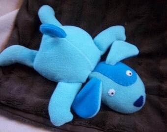Floppy Plush Puppy- Blues