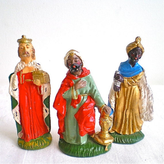 Christmas, Vintage, Nativity, Italian, Figurines, Italy, Wise Men ...
