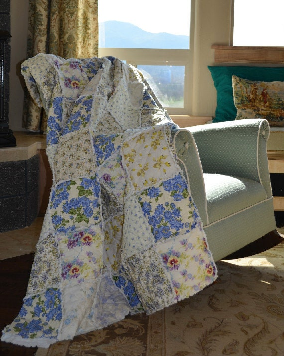 Rag Quilt Patterns For Twin Bed : French Garden Twin Size Day Bed Rag Quilt