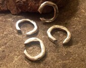 Sterling Silver Artisan Connectors - OPEN 9.5mm x 8.5mm 4 Rings  AP96a