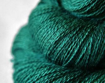 Pestled emerald - BabyAlpaca/Silk Lace Yarn