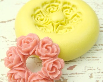 Ring Around the Rosie - Flexible Silicone Mold - Jewelry Mold, Polymer Clay Mold, Resin Mold, Craft Mold, PMC Mold