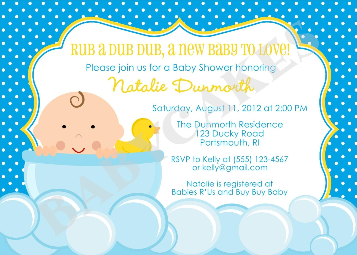 rubber ducky baby shower invitation diy print your own