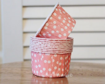 Cupcake Cups Liners Baking Cups Pink Lemonade Paerty Kids Birthday Baby Shower Wedding Pink Polka Dots Candy Nut Paper Goods Dips Set of 20