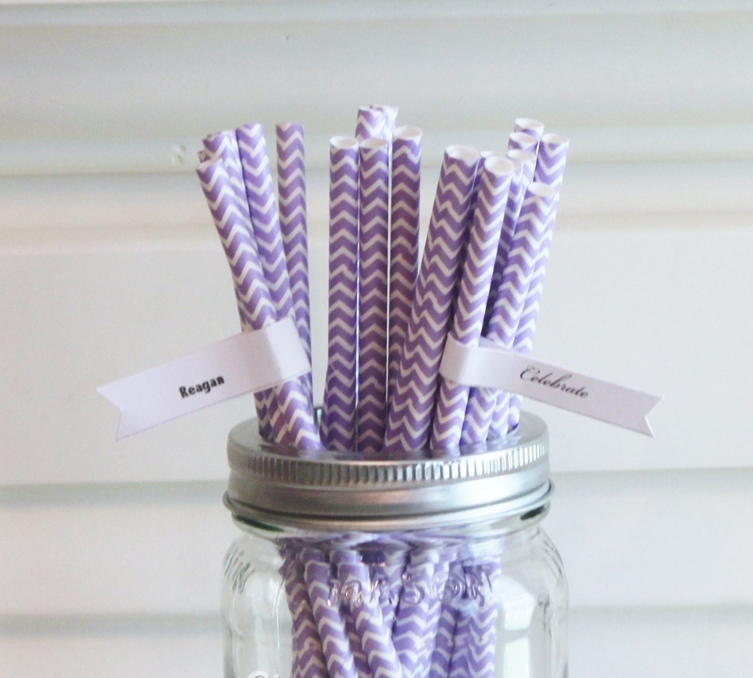 Lavender Baby Shower Decorations Paper Straws 100 Lavender Chevron Straws Lavender Wedding
