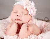 Baby headband, newborn headband, adult headband, child headband and photography prop The single sprinkled- ELEGANCE headband