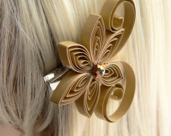 Gold Wedding Hair Clip, Gold Wedding Hair Accessory