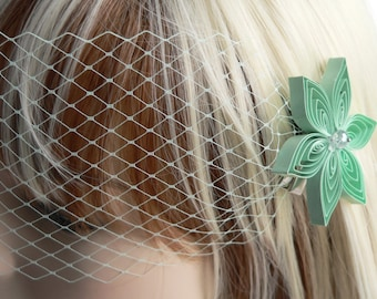 Mint Wedding Veil
