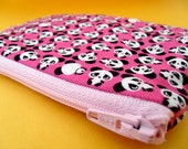 panda coin  purse in pink