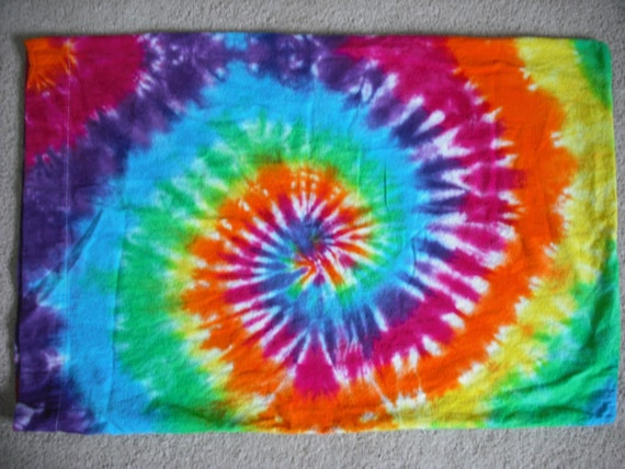 Tie Dye Flannel Pillowcase set reserved for Tanya